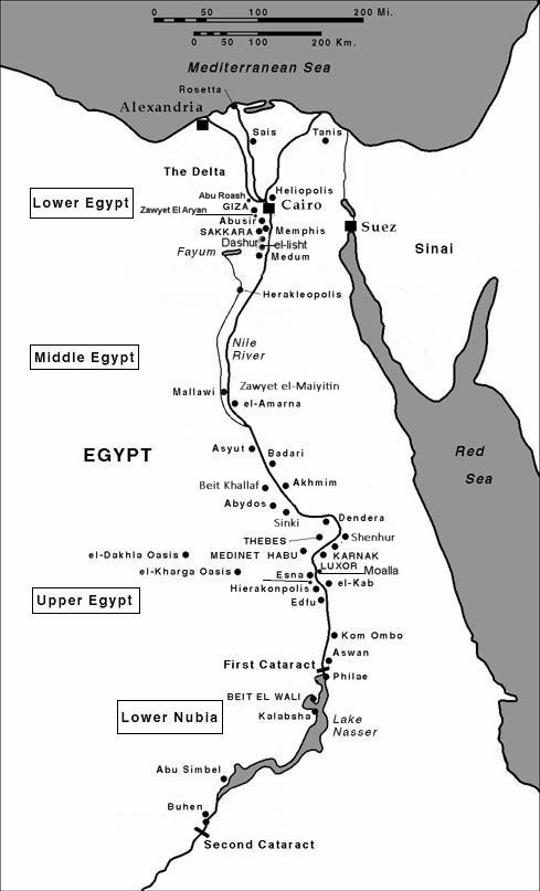 Map Of Ancient Egypt - Ancient egypt map