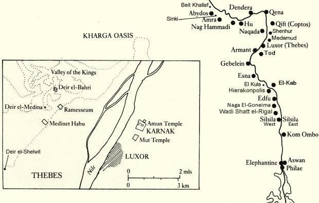 Upper Egypt Map
